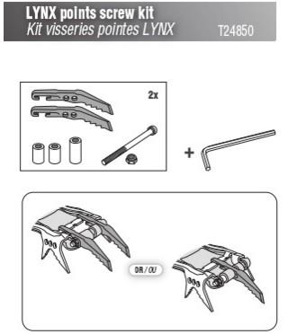 Petzl - Kit visserie pour crampons Lynx