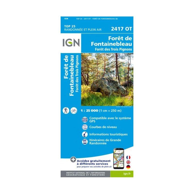 IGN Forêts de Fontainebleau et des Trois Pignons