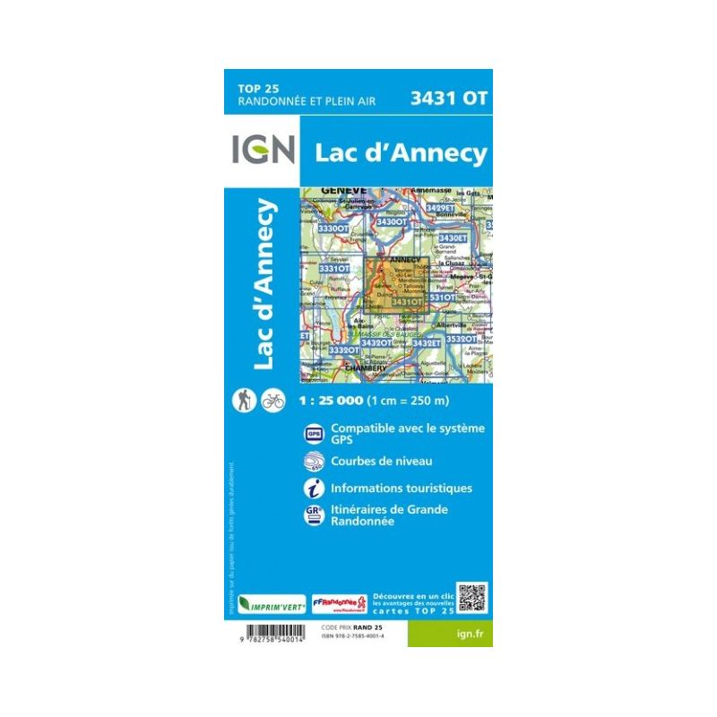 IGN Lac d'Annecy
