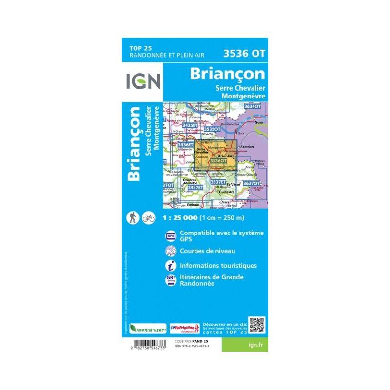 IGN Briancon / Serre-Chevalier / Montgenevre