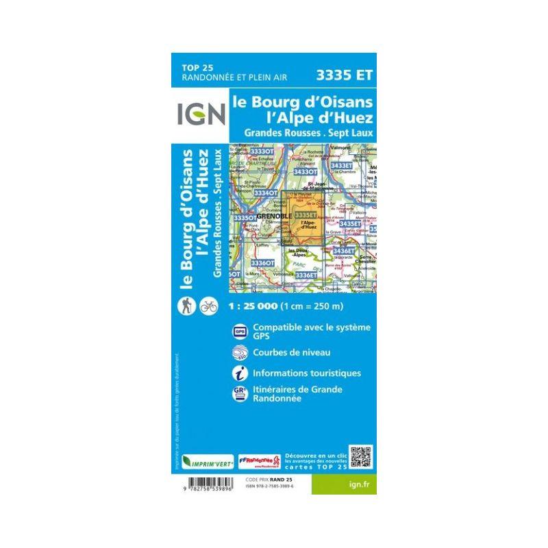 IGN Le Bourg-D'Oisans / L'Alpe-D'Huez / Grandes Rousses / Sept Laux