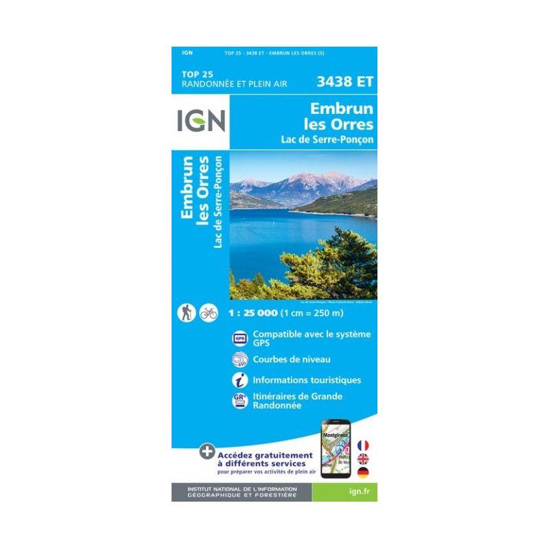 IGN Embrun / Les Orres / Lac de Serre-Poncon