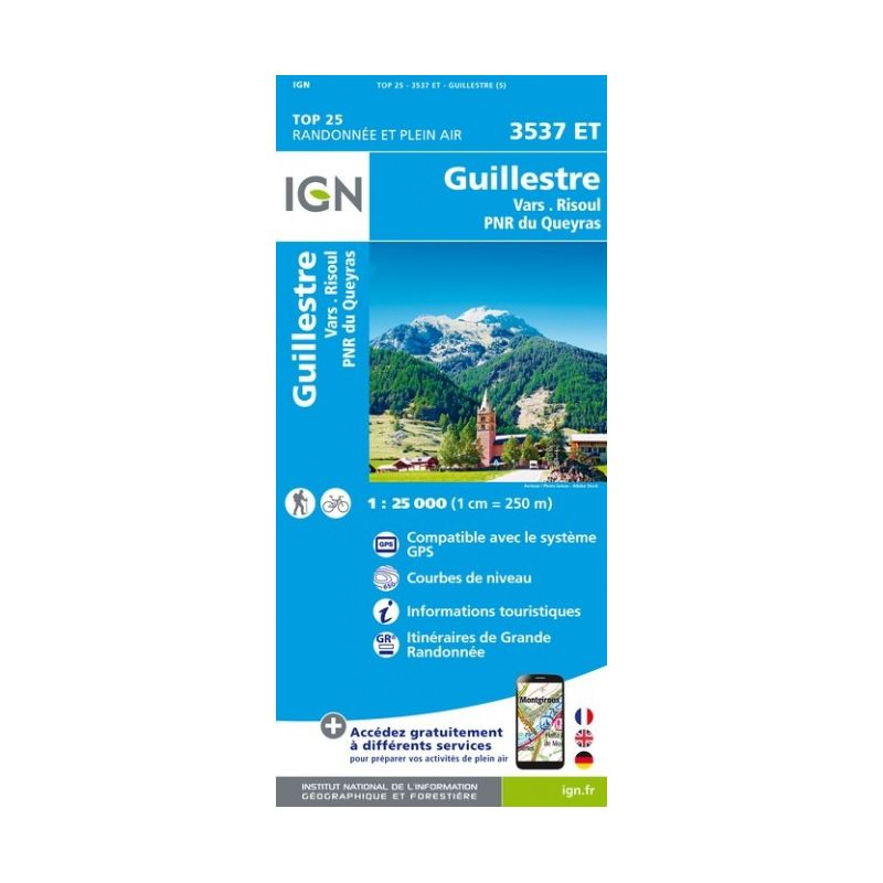 IGN Guillestre / Vars / Risoul / PNR du Queyras